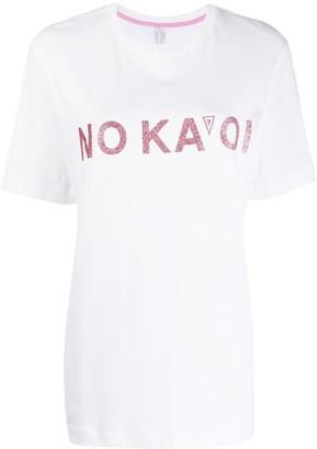 NO KA 'OI glitter logo T-shirt