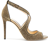 Jimmy Choo Emily 100mm glitter sandals