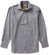 Daniel Cremieux Signature Long-Sleeve Slim-Fit Heather Woven Shirt