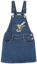 Molo Embroidered jean dungaree dress - Carolyn