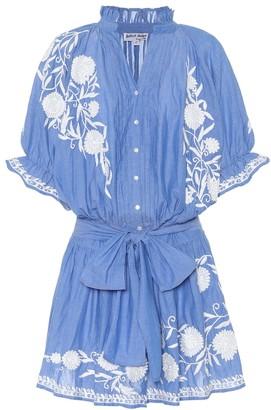 Juliet Dunn Embroidered cotton minidress