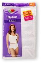 Fruit of the Loom Women`s 6-Pack Nylon Brief Panties - 6