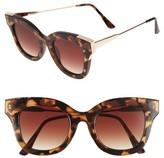 BP Women's 50Mm Cat Eye Sunglasses - Black/ Pink