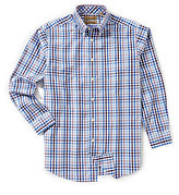Roundtree & Yorke Gold Label Non-Iron Long-Sleeve Gingham Sportshirt