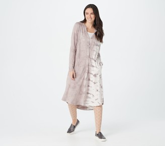 Logo by Lori Goldstein Hand Tie-Dyed Cotton Slub Duster Dress