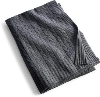 Ralph Lauren Cable Cashmere Throw Blanket