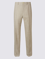 M&S Collection Big & Tall Regular Linen Miracle Trousers