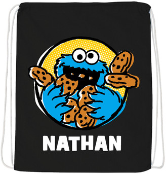 Sesame Street Tv's Toy Box TV's Toy Box Backpacks Black Cookie Monster Personalized Drawstring Bag