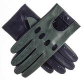 Black Racing Green and Navy Italian Leather Driving Gloves