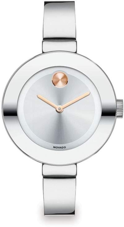 Movado Bold Stainless Steel Bangle Bracelet Watch/34MM