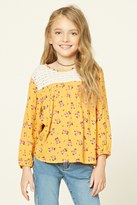 Forever 21 FOREVER 21+ Girls Floral Peasant Top (Kids)