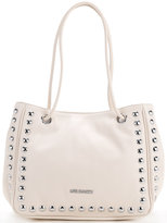 Love Moschino studded logo shoulder bag