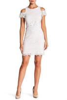 Jessica Simpson Lace Cold Shoulder Shift Dress