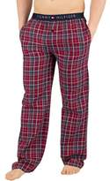 Tommy Hilfiger Men's Woven Check Pyjama Bottoms, Red red