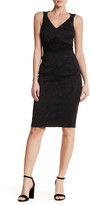 Karen Millen Texture Mixing Shift Dress