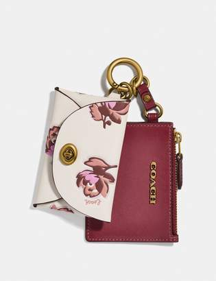 Coach Dual Card Case With Floral Print
