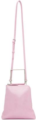 Marge Sherwood Pink Crinkled Breeze Handle Bag