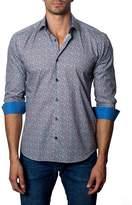 Jared Lang Graphic-Print Contrast Sport Shirt