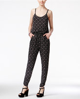 American Rag Printed Blouson Jumpsuit, Only at Macy's