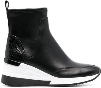 MICHAEL Michael Kors Skyler leather wedge sneakers