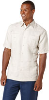 Cubavera Big & Tall Short Sleeve Embroidered Guayabera