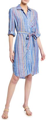 Finley Alex Grover Stripe Belted Shirtdress