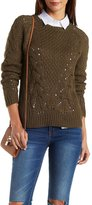 Charlotte Russe Cable Knit Pullover Sweater