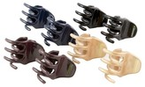Goody Classics Claw Hair Clips - Small - Assorted Colors - 8 ct