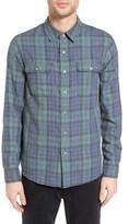 Current/Elliott Men's Plaid Two-Pocket Utility Fit Sport Shirt