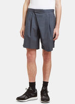 Kolor Men's Wrap-over Shorts In Grey