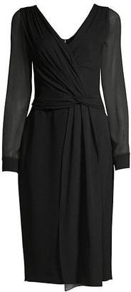 Max Mara Arab Sheer Twist-Front Dress