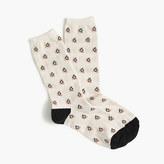 J.Crew Trouser socks in skiing penguin print