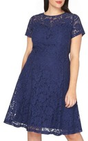 Dorothy Perkins Plus Size Women's Lace Fit & Flare Dress