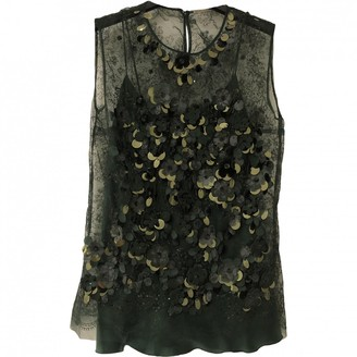 Ermanno Scervino Green Silk Top for Women