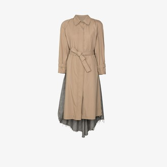 Rentrayage Checked cape trench coat