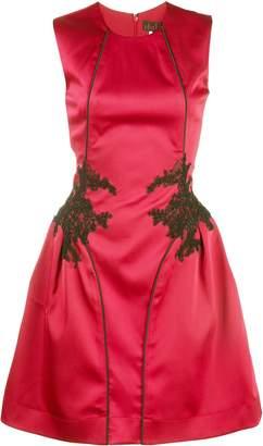 Nha Khanh lace panel mini dress