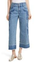 Rebecca Minkoff Women's Starlight High Waist Crop Wide Leg Jeans