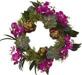 Asstd National Brand 20 Orchid, Artichoke & Succulent Wreath