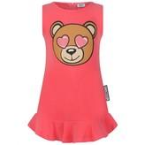 Moschino Girls Fuchsia Sleevelees Teddy Head Dress
