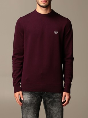 Fred Perry Crewneck Sweater In Cotton And Wool