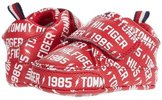 Tommy Hilfiger Iconic Court Logo (Infant/Toddler) (Red/White) Girl's Shoes