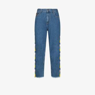Mira Mikati Beaded Straight Leg Jeans