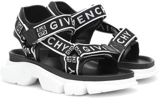Givenchy Jaw leather-trimmed sandals