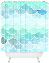Deny Designs Wonder Forest Mermaid Scales Shower Curtain