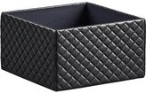CB2 Quilted Black Open Storage Box