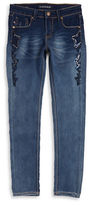 Vigoss Girls 7-16 Beaded Star Skinny Jeans
