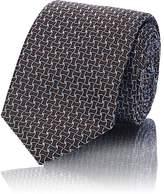Barneys New York Men's Silk-Cotton Jacquard Necktie
