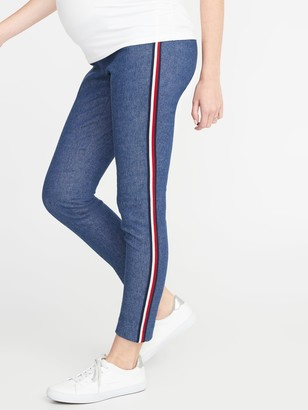 Old Navy Maternity Side-Panel Pieced-Stripe Pixie Pants