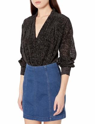 ASTR the Label Women's Zena Surplice Wrap Top Bodysuit