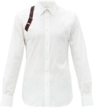 Alexander McQueen Harness Cotton-blend Poplin Shirt - White